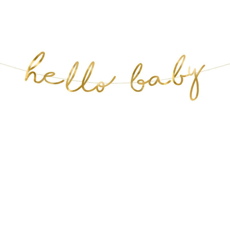 Slinger Hello Baby goud-1