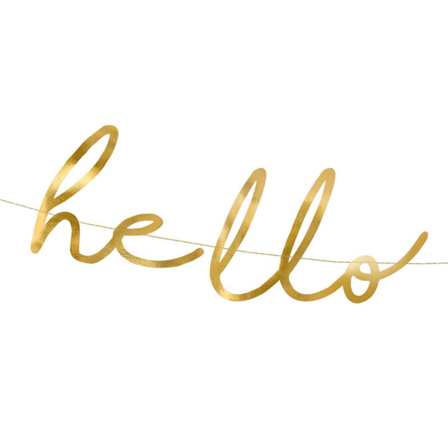 Slinger Hello Baby goud-2