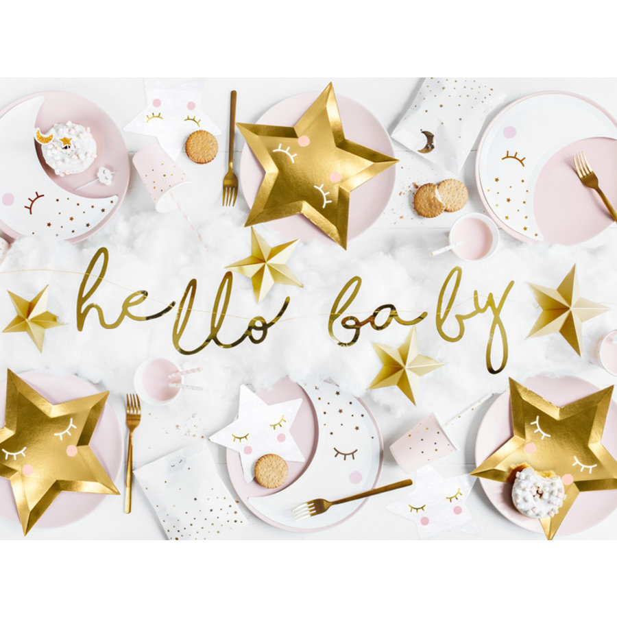 Slinger Hello Baby goud-4