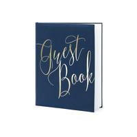 thumb-Gastenboek blauw goud-1