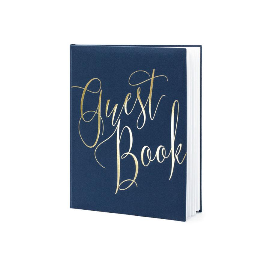 Gastenboek blauw goud-1