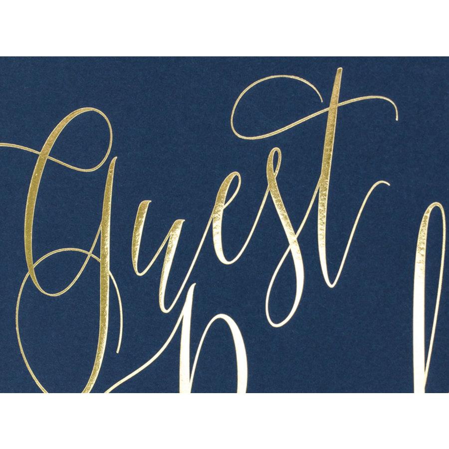 Gastenboek blauw goud-2