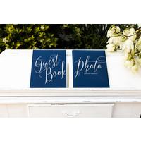 thumb-Gastenboek blauw goud-3