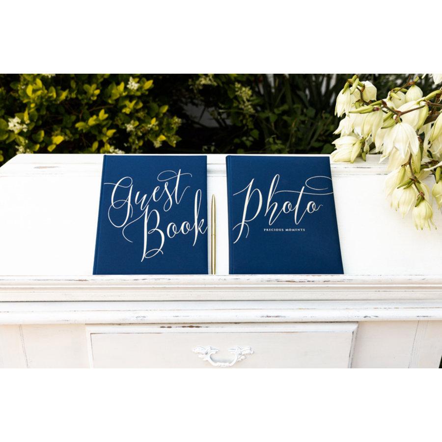Gastenboek blauw goud-3