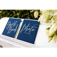 thumb-Gastenboek blauw goud-4