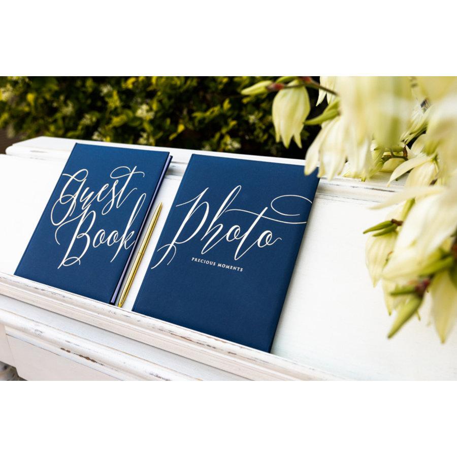 Gastenboek blauw goud-4