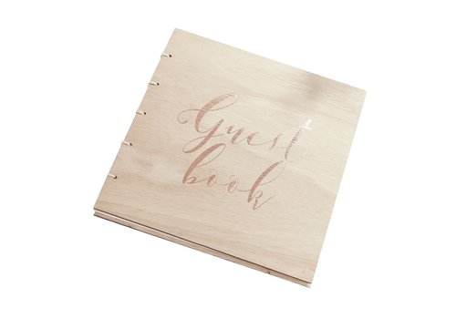 Gastenboek hout