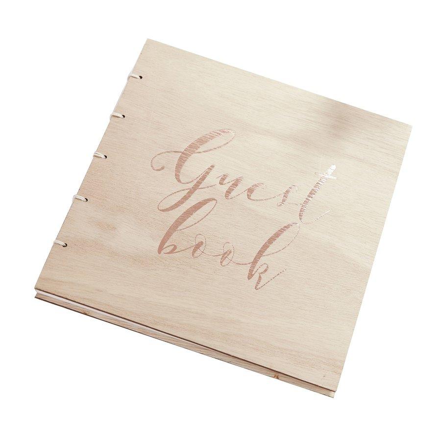 Gastenboek hout-1