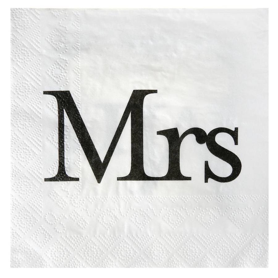 Servetten wit Mrs(20 stuks)-1