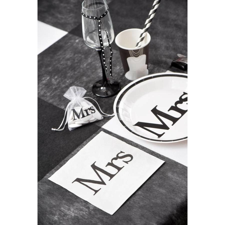 Servetten wit Mrs(20 stuks)-3