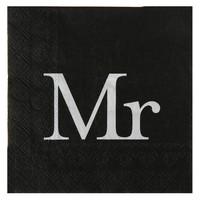 thumb-Servetten zwart Mr (20 stuks)-1