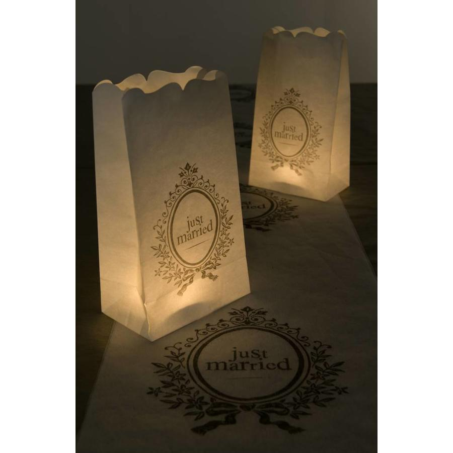 Candle Bag wit (6 stuks)-2