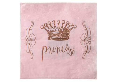 Serviette Princesse rose