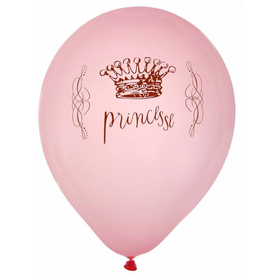 Roze ballonnen prinses (8 stuks)-1
