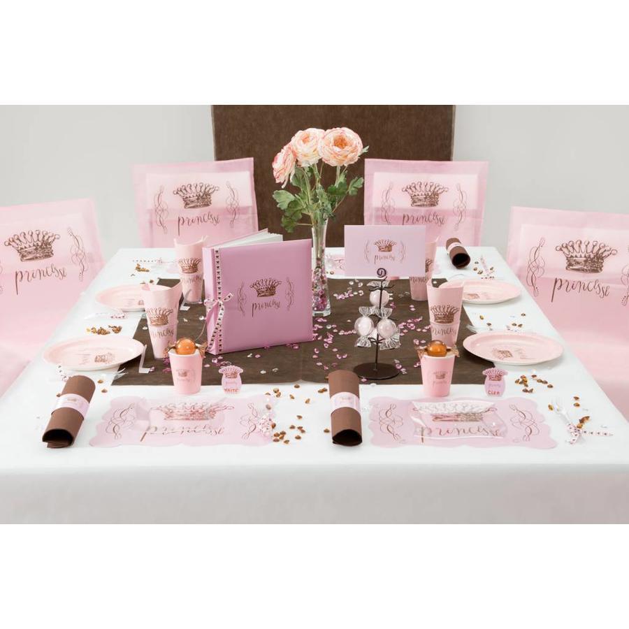 Roze plaatsnaamkaartjes prinses (6 stuks)-3