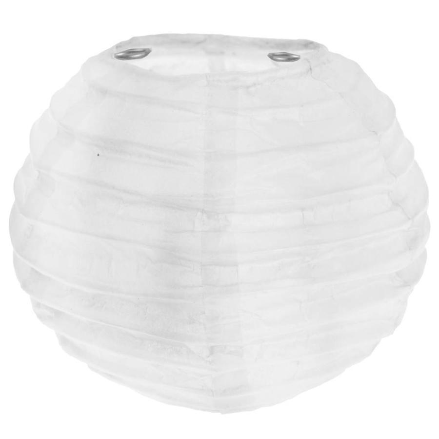 Lampion wit (2 stuks) diameter 10 cm-1