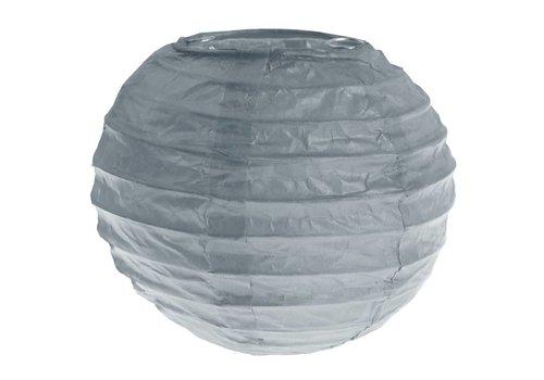 Lampion grijs (2 stuks) diameter 10 cm