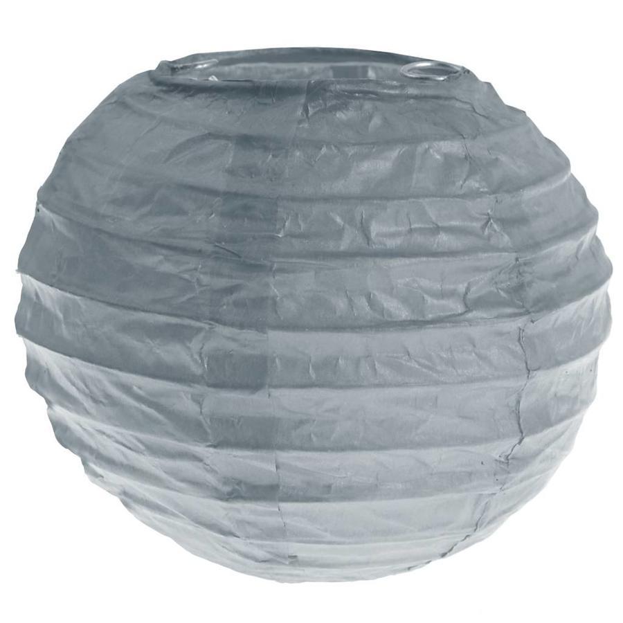 Lampion grijs (2 stuks) diameter 10 cm-1