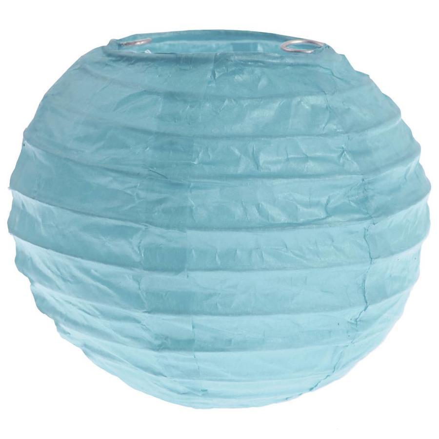 Lampion blauw(2 stuks) diameter 10 cm-1