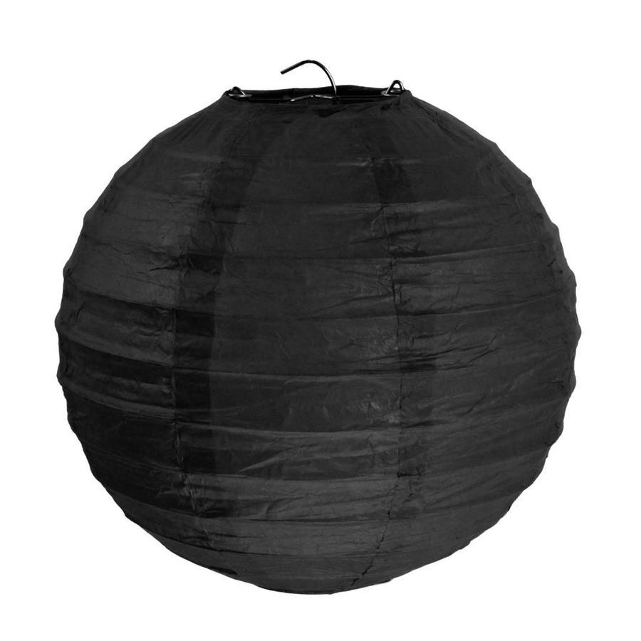 Lampion zwart(2 stuks) diameter 10 cm-1