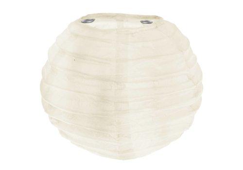 Lampion ivoor (2 stuks) diameter 10 cm