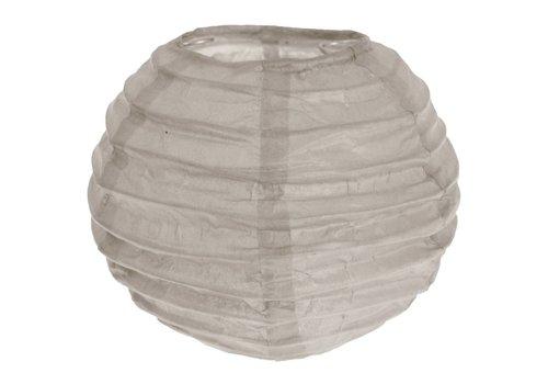 Lampion taupe (2 stuks) diameter 10 cm