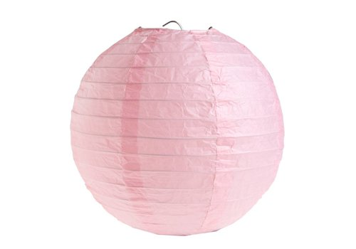 Lampion roze (2 stuks) diameter 20 cm