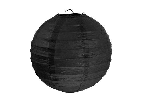 Lampion zwart (2 stuks) diameter 30 cm