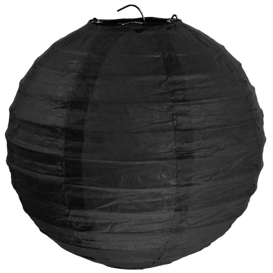 Lampion zwart diameter 50 cm-1