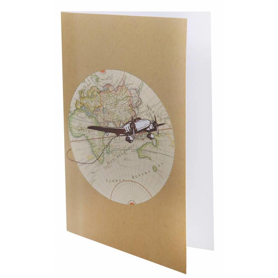 Uitnodigingskaarten travel (6 stuks)-1