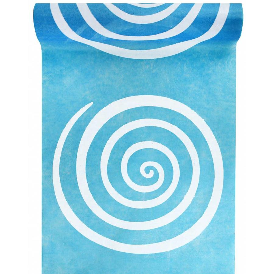 Tafelloper Spiraal lime blauw-1