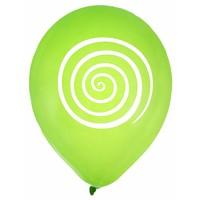 thumb-Ballon spiraal lime (8 stuks)-1