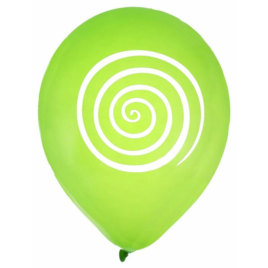 Ballon spiraal lime (8 stuks)-1