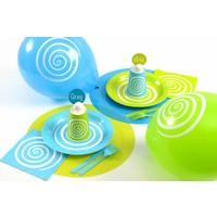 thumb-Ballon spiraal blauw (8 stuks)-2
