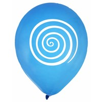 thumb-Ballon spiraal blauw (8 stuks)-1