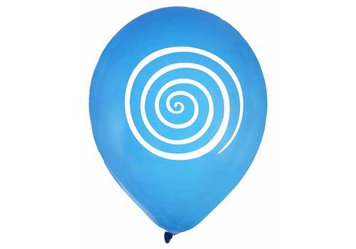 Ballon spiraal blauw (8 stuks)
