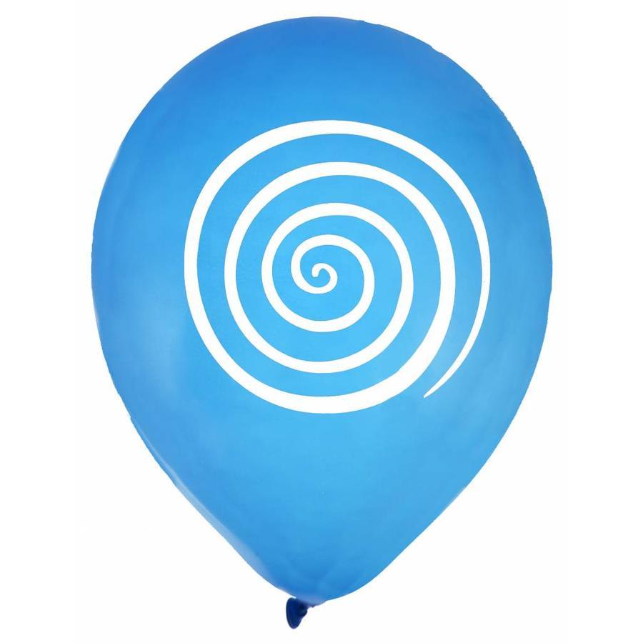 Ballon spiraal blauw (8 stuks)-1