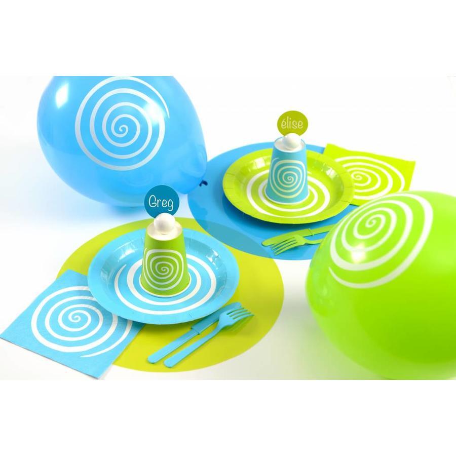 Bordjes spiraal blauw (10 stuks)-2