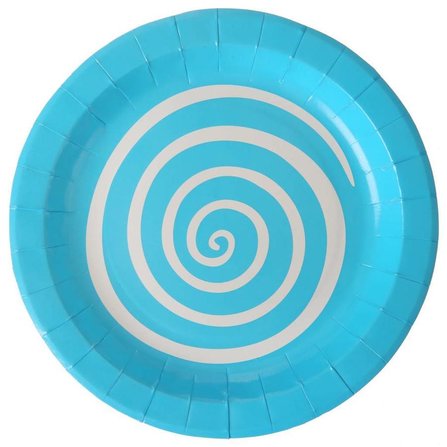 Bordjes spiraal blauw (10 stuks)-1