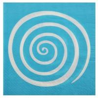 thumb-Servet spiraal blauw (20 stuks)-1