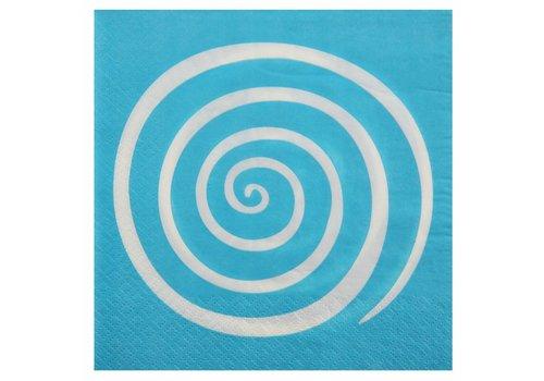 Servet spiraal blauw (20 stuks)