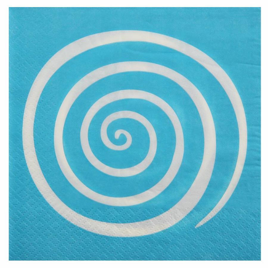 Servet spiraal blauw (20 stuks)-1