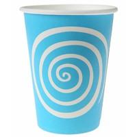 thumb-Bekertje spiraal blauw (10 stuks)-1