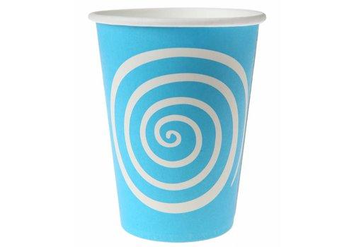 Bekertje spiraal blauw (10 stuks)
