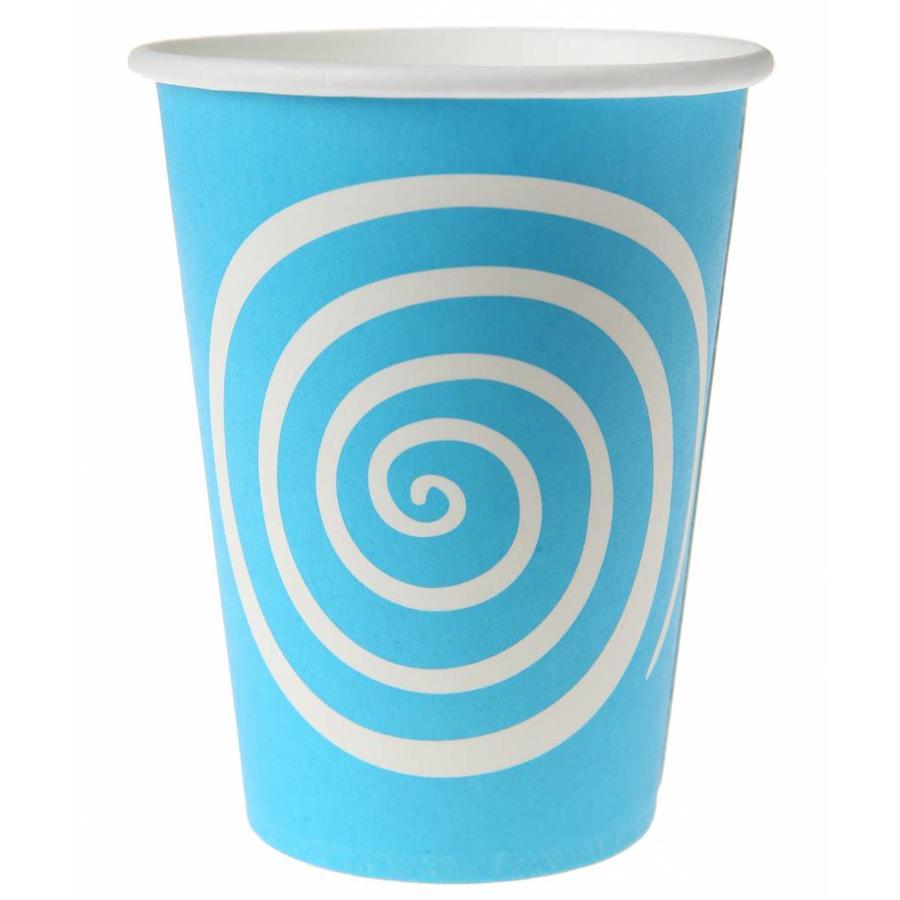 Bekertje spiraal blauw (10 stuks)-1