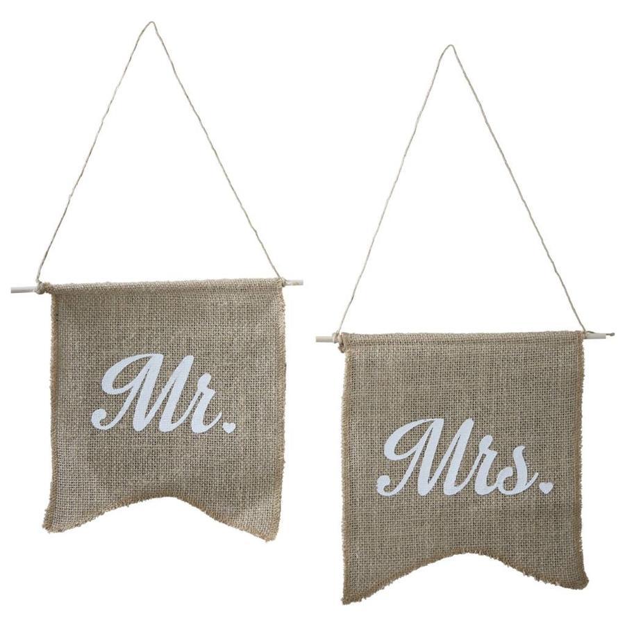 Jute vlaggetjes Mr & Mrs-1