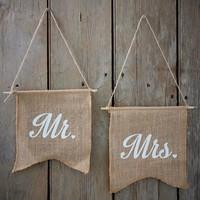 thumb-Jute vlaggetjes Mr & Mrs-2