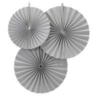 thumb-Papieren waaier zilver (3 stuks)-1