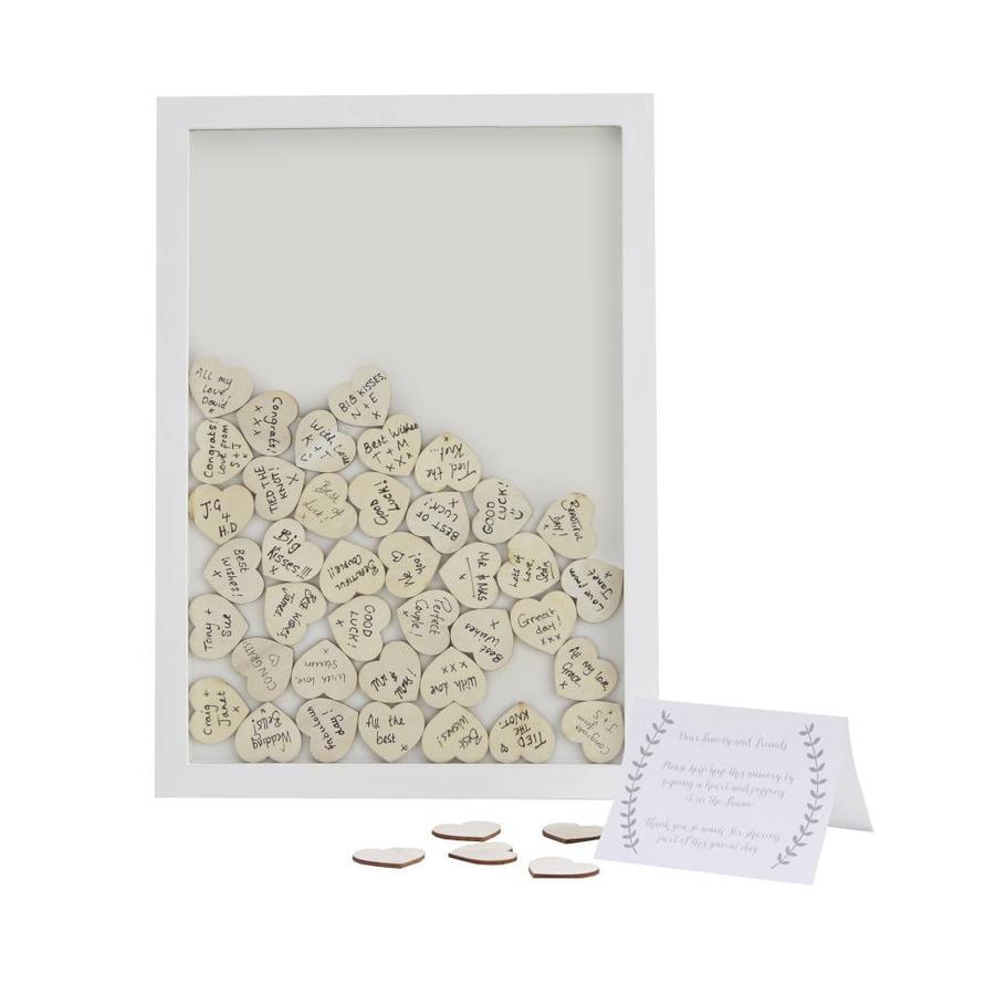 Alternatief gastenboek houten hartjes-1