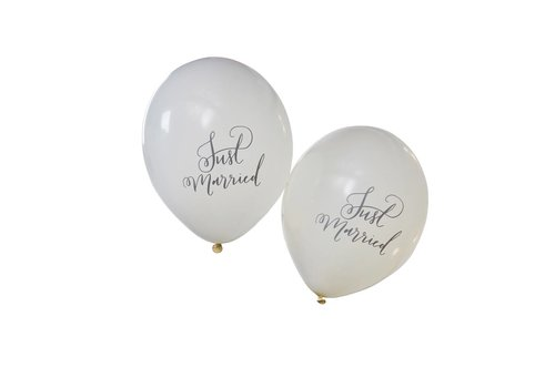 Ballon Just Married (10 stuks)